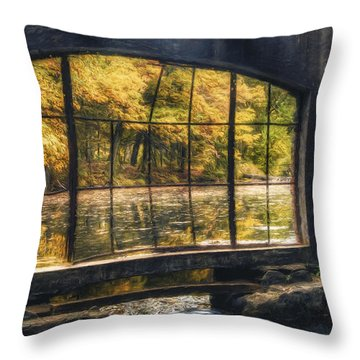 Inside The Old Spring House Throw Pillow by Scott Norris