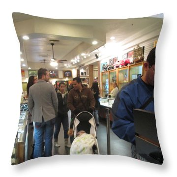 Inside World Famous Pawn Shop Throw Pillow by Kay Novy