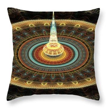 Intergalactic Transmission Throw Pillow by Svetlana Nikolova