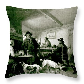 Interior Of A Country Inn Throw Pillow by George Morland