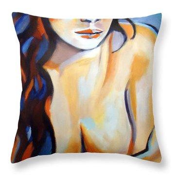Intimate Silence II Throw Pillow by Helena Wierzbicki