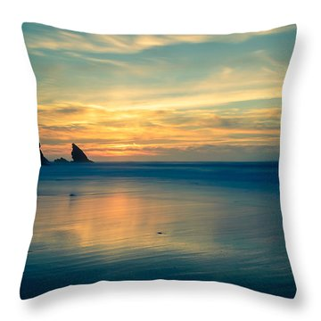 Into The Blue IIi Throw Pillow by Marco Oliveira