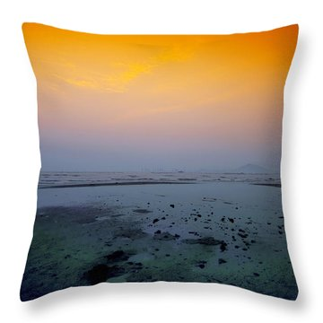 Into The Blue Throw Pillow by Midori Chan