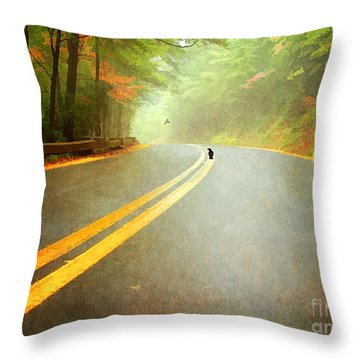 Into The Fog Throw Pillow by Darren Fisher
