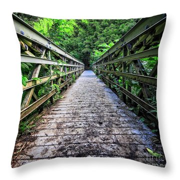 Into The Jungle  Throw Pillow by Edward Fielding