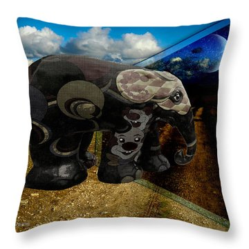Into The Night Throw Pillow by EricaMaxine  Price