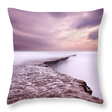 Into The Ocean Throw Pillow by Jorge Maia