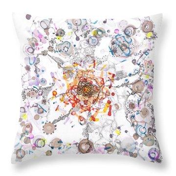 Intracellular Diversion Throw Pillow by Regina Valluzzi