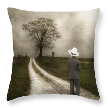 Introspection Throw Pillow by Tom Mc Nemar