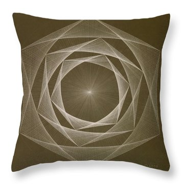 Inverted Energy Spiral Throw Pillow by Jason Padgett