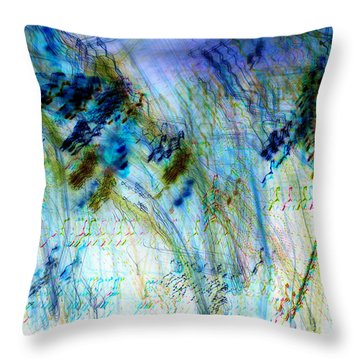 Inverted Light Abstraction Throw Pillow by Chris Anderson