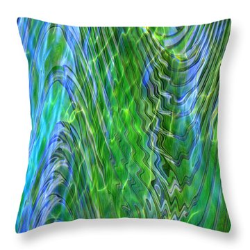 Iridescence Throw Pillow by Carol Groenen