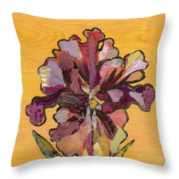 Iris I Series II Throw Pillow by Shadia Derbyshire