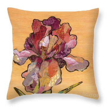 Iris II - Series II Throw Pillow by Shadia Derbyshire