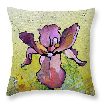 Iris II Throw Pillow by Shadia Derbyshire