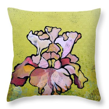 Iris Iv Throw Pillow by Shadia Derbyshire