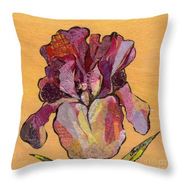 Iris V  - Series V Throw Pillow by Shadia Derbyshire
