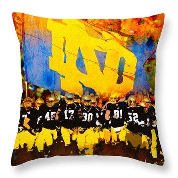 Irish In Color Throw Pillow by John Farr