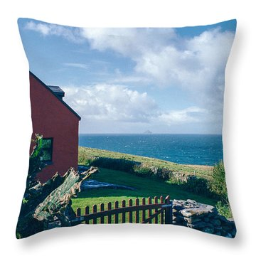 Irish School House Throw Pillow by David Lange