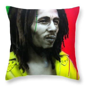 'iron Like A Lion In Zion' Throw Pillow by Christian Chapman Art