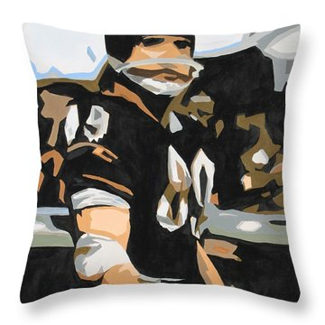 Iron Mike Ditka Throw Pillow by Steven Dopka