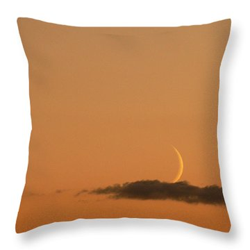 Island In A Sea Of Sky Throw Pillow by Natalie LaRocque