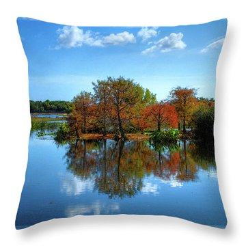 Islands In The Sun Throw Pillow by Debra and Dave Vanderlaan