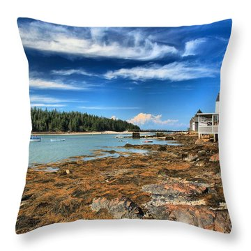 Isle Au Haut House Throw Pillow by Adam Jewell