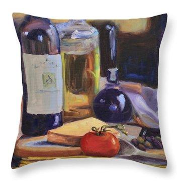 Italian Kitchen Throw Pillow by Donna Tuten