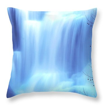 Ithaca Water Falls New York  Throw Pillow by Paul Ge