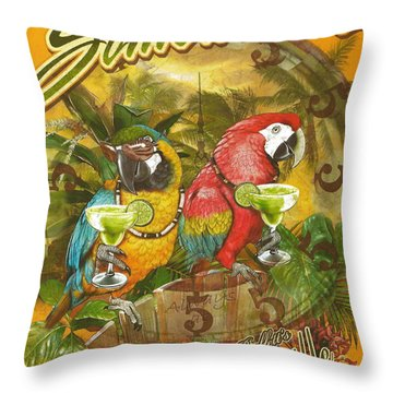 It's 5 O'clock Somewhere Throw Pillow by Desiderata Gallery