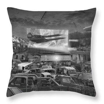 It's A Disposable World  Throw Pillow by Mike McGlothlen