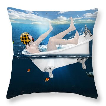 Its Not The Time  Throw Pillow by Mark Ashkenazi