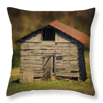 Itsy Bitsy Cabin Throw Pillow by EricaMaxine  Price