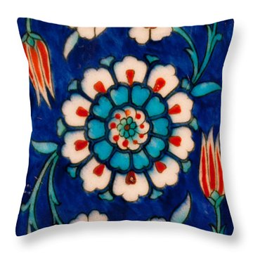 Iznik 11 Throw Pillow by Rick Piper Photography