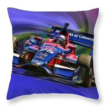 Izod Indycar Series Marco Andretti  Throw Pillow by Blake Richards