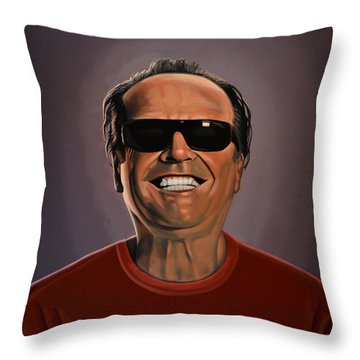 Jack Nicholson 2 Throw Pillow by Paul Meijering