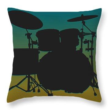 Jacksonville Jaguars Drum Set Throw Pillow by Joe Hamilton