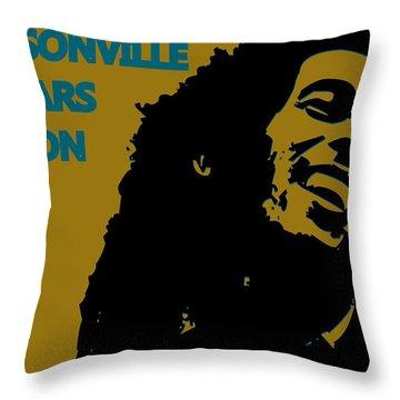 Jacksonville Jaguars Ya Mon Throw Pillow by Joe Hamilton