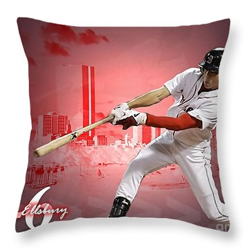 Jacoby Ellsbury Throw Pillow by Marvin Blaine