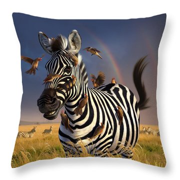 Jailbird Throw Pillow by Jerry LoFaro