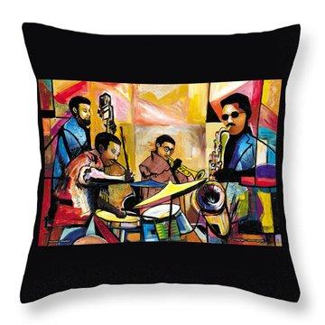 Jammin N Rhythm Throw Pillow by Everett Spruill