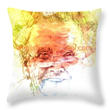 Janice Throw Pillow by  Maestro