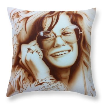 'janis' Throw Pillow by Christian Chapman Art