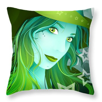 Jasmin Throw Pillow by Sandra Hoefer
