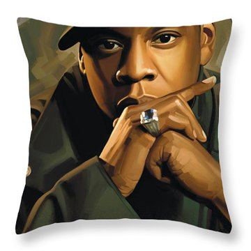 Jay-z Artwork 2 Throw Pillow by Sheraz A