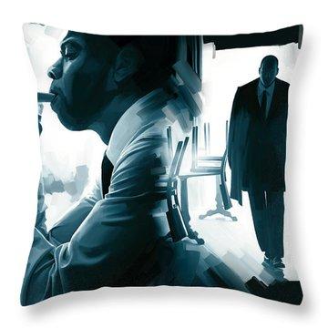 Jay-z Artwork 3 Throw Pillow by Sheraz A