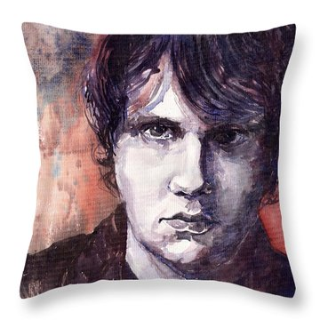 Jazz Rock John Mayer Throw Pillow by Yuriy  Shevchuk