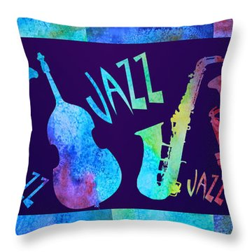 Jazzy Combo Throw Pillow by Jenny Armitage
