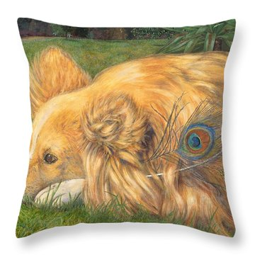 Jealous Jessie Throw Pillow by Emily Hunt and William Holman Hunt